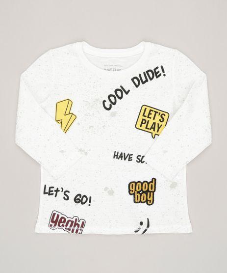Camiseta-Infantil-com-Frases-Manga-Curta-Gola-Careca-em-Algodao---Sustentavel-Off-White-9035642-Off_White_1