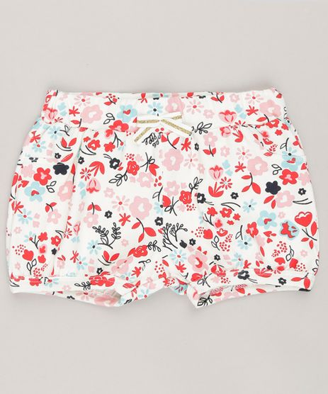 Short-Infantil-Estampado-Floral-em-Algodao---Sustentavel-Off-White-9058501-Off_White_1