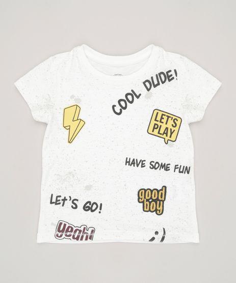 Camiseta-Infantil-com-Frases-Manga-Curta-Gola-Careca-em-Algodao---Sustentavel-Off-White-9035136-Off_White_1