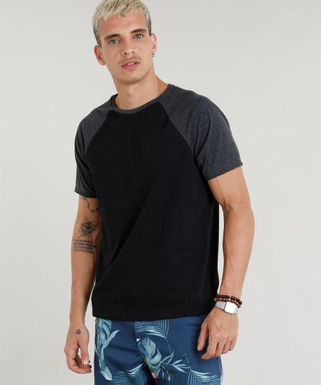 Camiseta-Masculina-Basica-Raglan-Manga-Curta-Gola-Careca-Preta-8808223-Preto_1