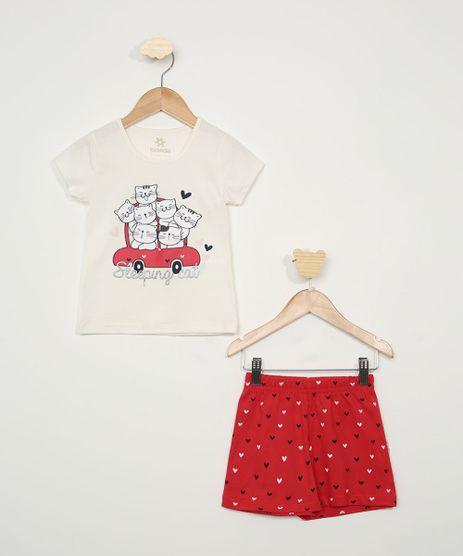 Pijama-Infantil-Brandili-Gatinhos-Manga-Curta-Off-White-9968095-Off_White_1