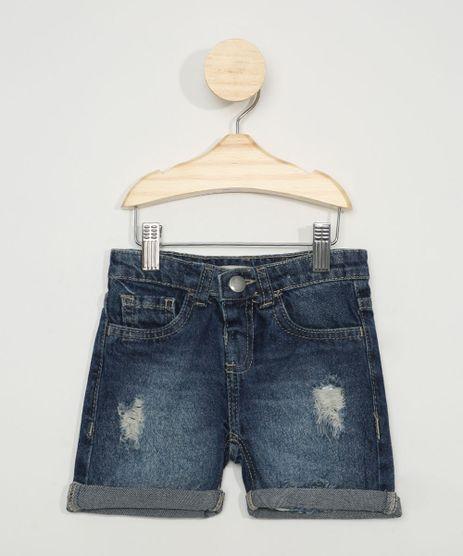 Bermuda-Jeans-Infantil-Reta-Destroyed-Azul-Escuro-9973734-Azul_Escuro_1