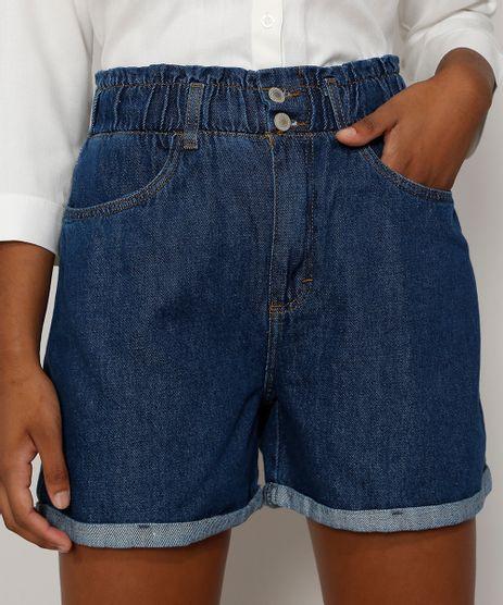 Short-Jeans-Feminino-Mom-Clochard-Cintura-Super-Alta-com-Barra-Dobrada-Azul-Escuro-9978199-Azul_Escuro_1