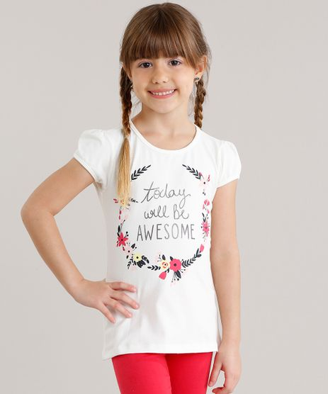 Blusa-Infantil--Today-Will-Be-Awesome---Manga-Curta-Decote-Redondo-Off-White-8553331-Off_White_1