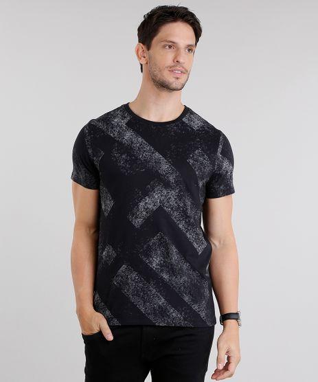 Camiseta-Masculina-Estampada-Geometrica-Gola-Careca-Manga-Curta-Preta-8692051-Preto_1