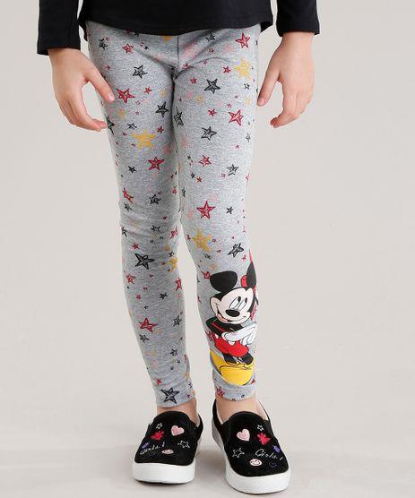 Calca-Legging-Infantil-Estampada-Mickey-e-Minnie-em-Algodao---Sustentavel-Cinza-Mescla-9044101-Cinza_Mescla_1