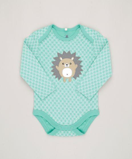 Body-Infantil-Porco-Espinho-Estampado-Manga-Longa-Gola-Redonda-em-Algodao---Sustentavel-Verde-Claro-8814794-Verde_Claro_1