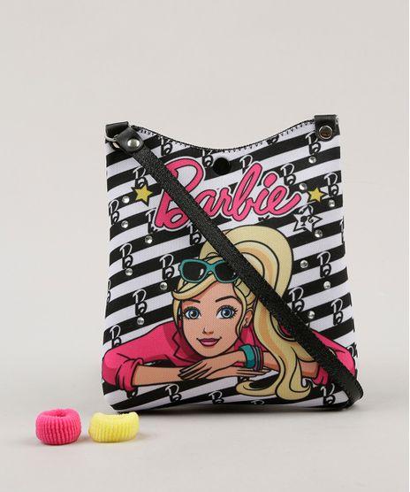 Bolsa-Infantil-Barbie-Estampada---Elasticos-de-Cabelo-Preta-9060645-Preto_1