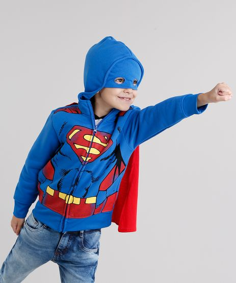 Blusao-Infantil-Super-Homem-em-Moletom-com-Capuz-com-Mascara-Azul-Royal-8474990-Azul_Royal_1
