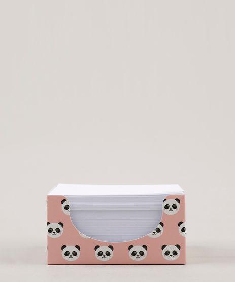 Bloco-de-Anotacoes-Estampado-de-Panda-Folha-Solta-Sem-Pauta-95cm-x-9cm-Rose-9088662-Rose_1