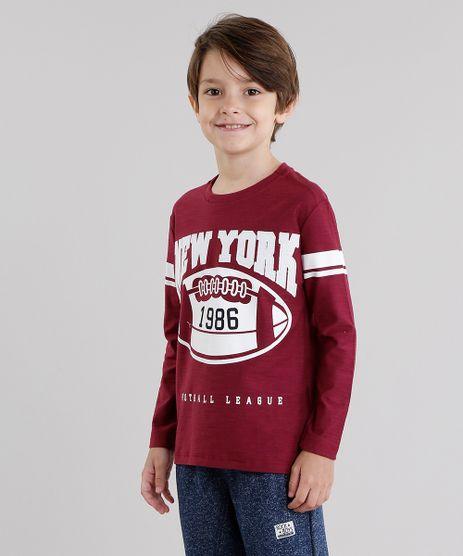 Camiseta-Infantil--New-York--Manga-Longa-Gola-Redonda-Vinho-9046323-Vinho_1
