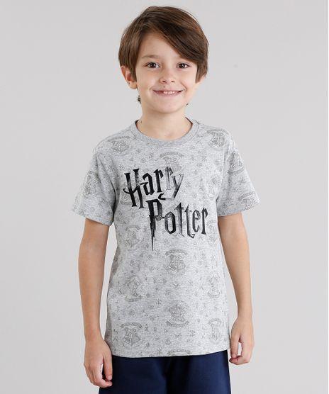 Camiseta-Infantil-Harry-Potter-Estampada-Manga-Curta-Gola-Redonda-Cinza-Mescla-9037703-Cinza_Mescla_1