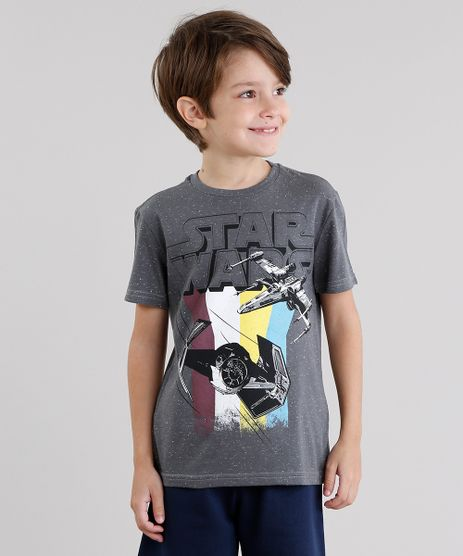 Camiseta-Infantil-Star-Wars-Botone-Manga-Curta-Gola-Redonda-Cinza-Mescla-Escuro-9030036-Cinza_Mescla_Escuro_1