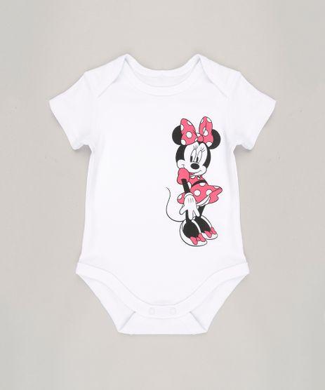 Body-Infantil-Minnie-Manga-Curta-Decote-Redondo-em-Algodao---Sustentavel-Branco-8918677-Branco_1