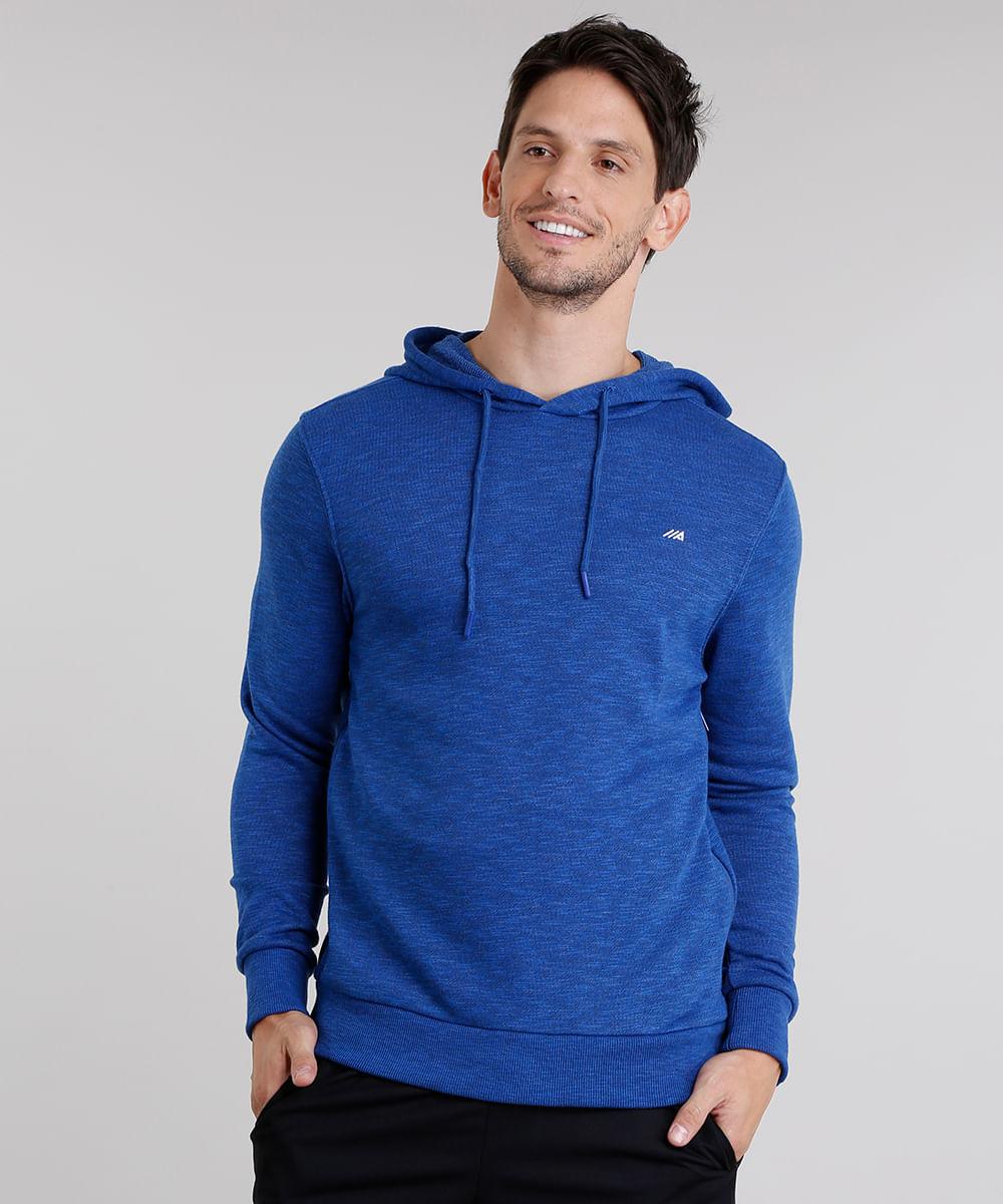 1ffc93d237 Blusão Masculino Esportivo Ace com Capuz Azul Royal - ceacollections