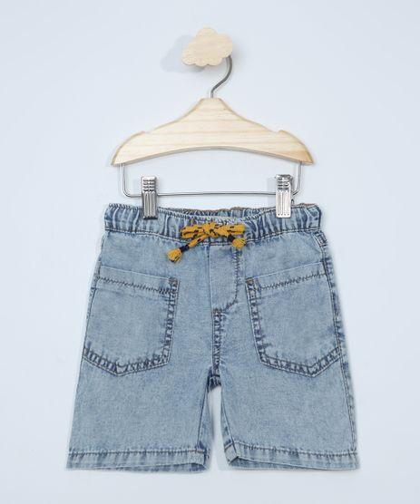 Bermuda-Jeans-Infantil-com-Bolsos-Azul-Claro-9978496-Azul_Claro_1