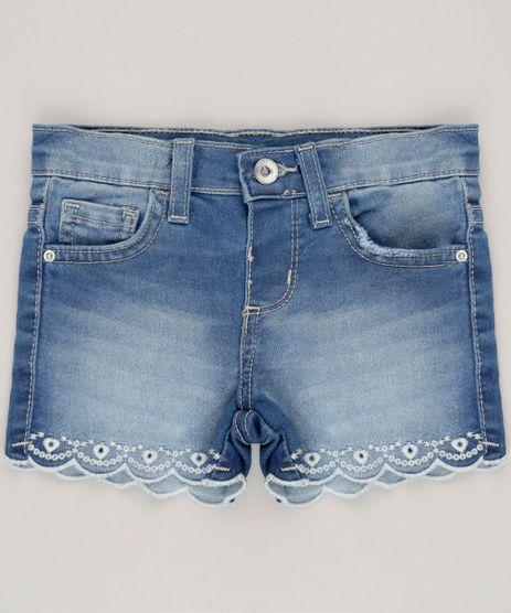 Short-Jeans-Infantil-com-Bordado-em-Algodao---Sustentavel-Azul-Medio-9071166-Azul_Medio_1