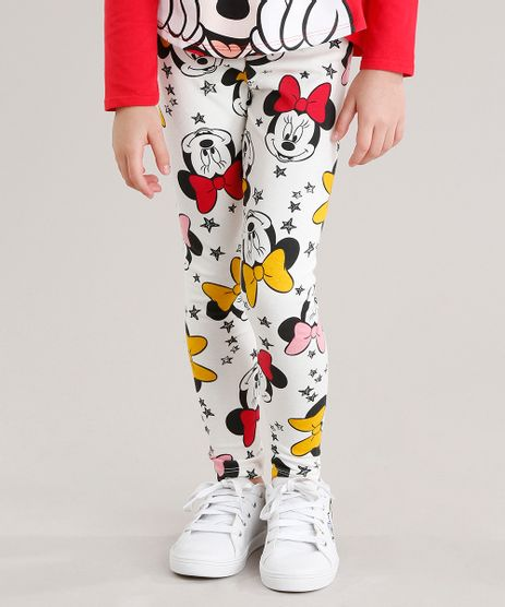 Calca-Legging-Infantil-Estampada-Minnie-em-Algodao---Sustentavel-Off-White-9044105-Off_White_1