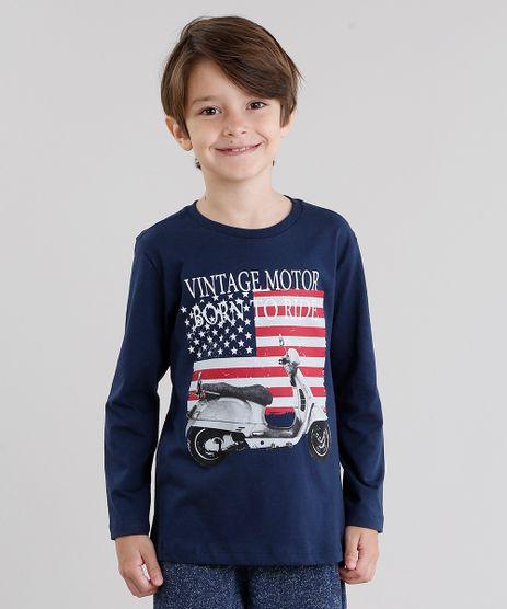 Camiseta-Infantil--Vintage-Motor--Manga-Longa-Gola-Redonda-Azul-Marinho-9033230-Azul_Marinho_1