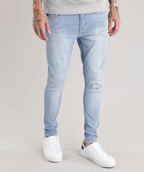 Calca-Jeans-Masculina-Super-Skinny-em-Algodao---Sustentavel-Azul-Claro-8938388-Azul_Claro_1