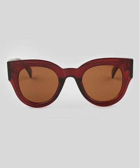 b6ce56499358c Oculos-de-Sol-Redondo-Feminino-Oneself-Marrom-9138096- ...