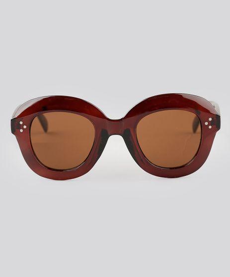 Oculos-de-Sol-Redondo-Feminino-Oneself-Marrom-9138087-Marrom_1