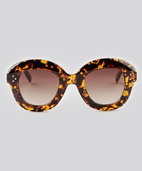 Oculos-de-Sol-Redondo-Feminino-Oneself-Tartaruga-9138090-Tartaruga_1