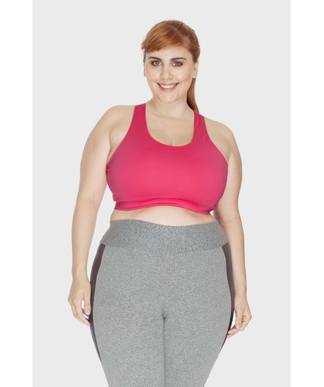 31a3cb6d254241 Top Fitness Liso Plus Size