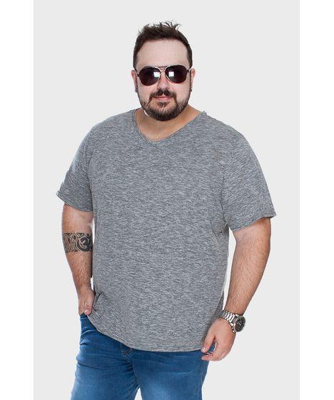 efdd63da5c82 Camiseta Gola V Mesclada Plus Size - cea