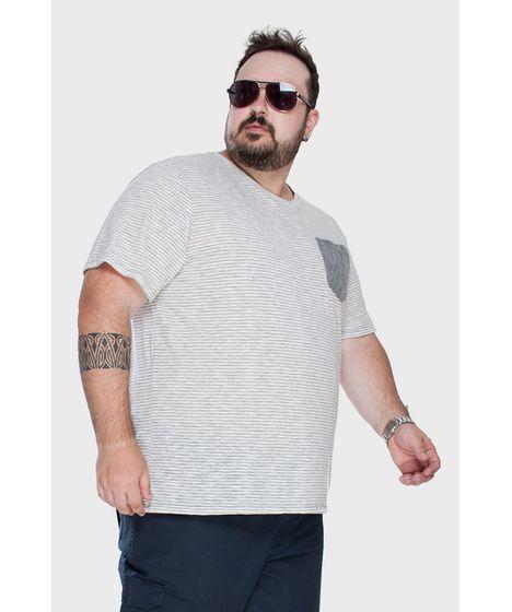 dc07c0f5c Camiseta com Bolso Mesclada Plus Size - cea