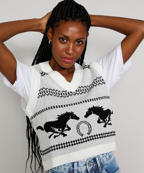 Colete-de-Trico-Feminino-Mindset-Cropped-Estampado-com-Cavalos-Decote-V-Off-White-9985141-Off_White_1