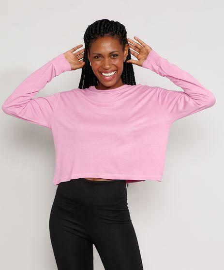 Blusao-de-Moletom-Feminino-Mindset-Basico-Oversized-Cropped-Decote-Redondo-Rosa-9985094-Rosa_1