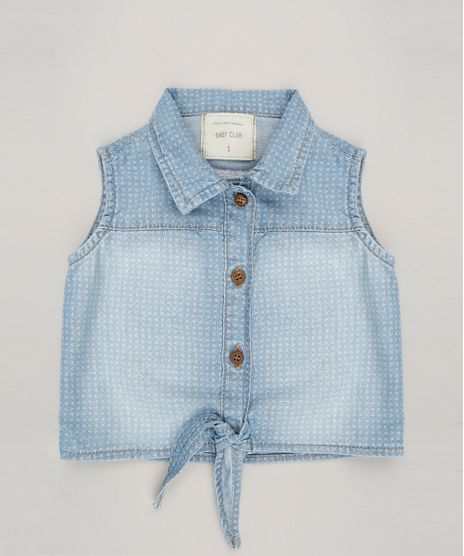 Camisa-Jeans-Infantil-Estampada-com-Amarracao-Sem-Manga-Azul-Claro-9062168-Azul_Claro_1