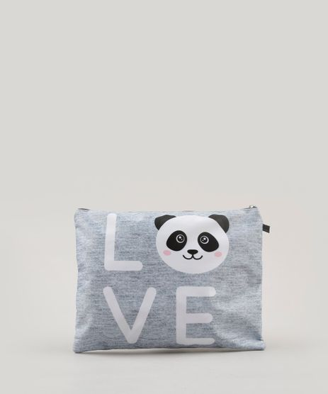 Necessaire-Feminina-Panda--Love--Cinza-Mescla-9037246-Cinza_Mescla_1