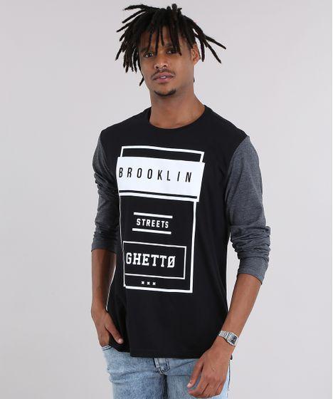 21eee3b48 Camiseta--Brooklin--Preta-8578683-Preto 1 ...