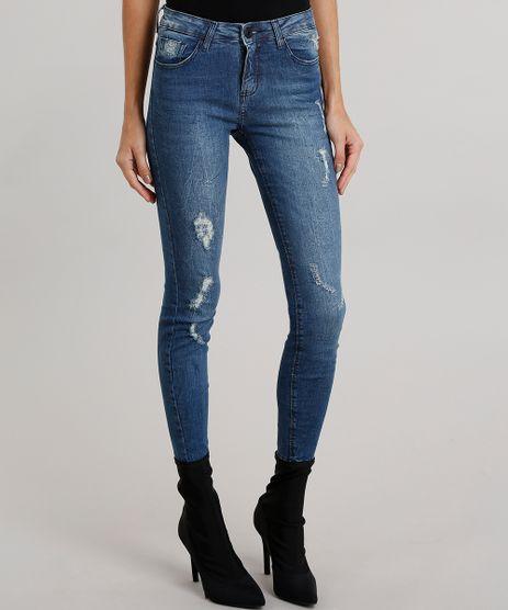 Calca-Jeans-Feminina-Super-Skinny-Sawary-Destroyed--Azul-Escuro-9010646-Azul_Escuro_1