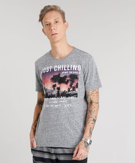 Camiseta-Masculina-Mescla--Just-Chilling--Manga-Curta-Gola-Careca-Chumbo-8965493-Chumbo_1