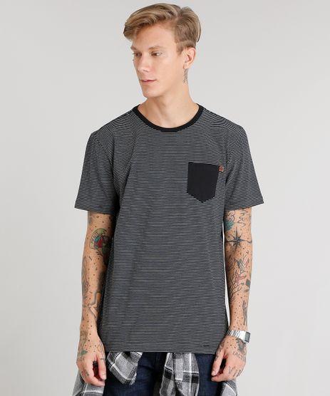 Camiseta-Masculina-Listrada-Manga-Curta-Gola-Careca-Preta-8960849-Preto_1