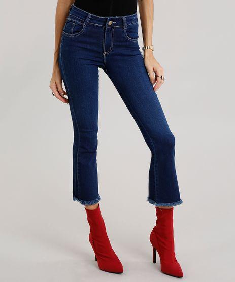 Calca-Jeans-Feminina-Cropped-Flare-Sawary-Azul-Escuro-9135588-Azul_Escuro_1