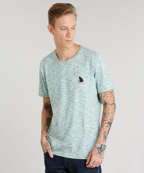 Camiseta-Masculina-Flame-com-Estampa--Tubarao--Manga-Curta-Gola-Careca-Verde-Claro-9028192-Verde_Claro_1