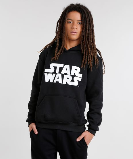 Blusao-Star-Wars-em-Moletom-de-Algodao---Sustentavel-Preto-8470840-Preto_1