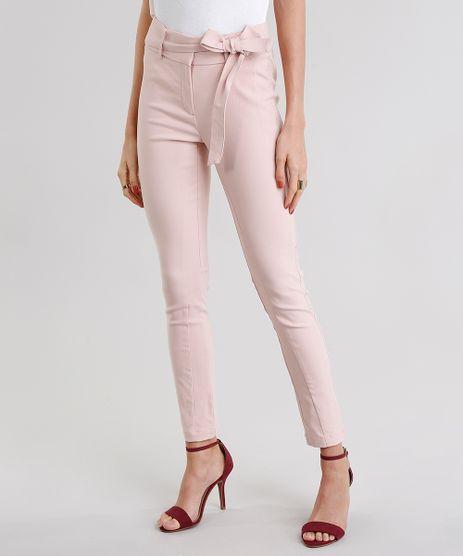 Calca-Feminina-Skinny-Cintura-Alta-com-Faixa-Rose-8893716-Rose_1