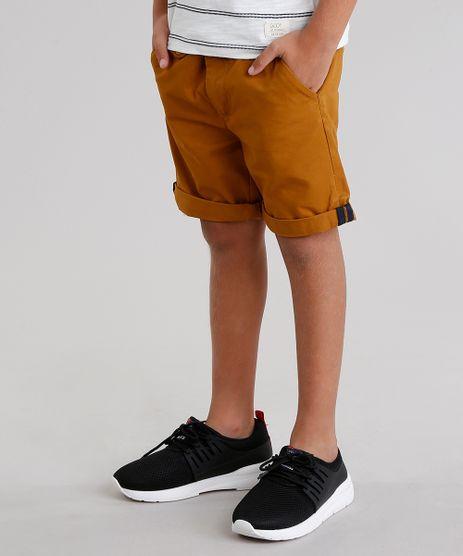 Bermuda-Infantil-Slim-com-Cinto-Caramelo-8584053-Caramelo_1