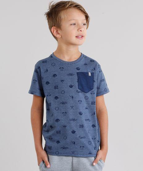 Camiseta-Infantil-Estampada-com-Bolso-Manga-Curta-Gola-Redonda-Azul-Marinho-9040769-Azul_Marinho_1
