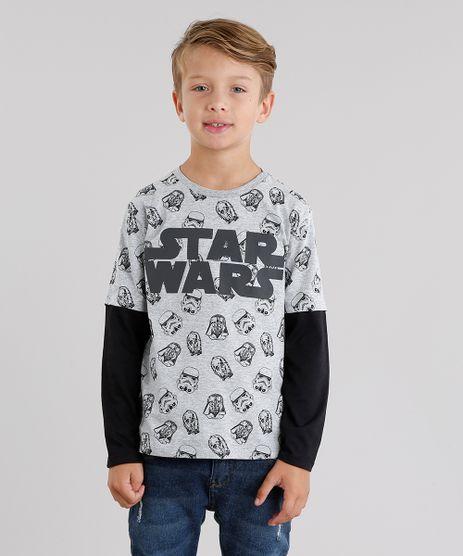 Camiseta-Infantil-Star-Wars-Estampada-Manga-Longa-Gola-Redonda-Cinza-Mescla-9037714-Cinza_Mescla_1
