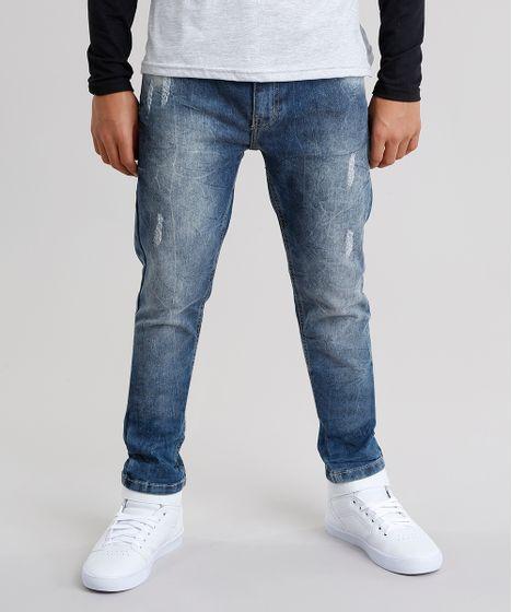 2fec1479d1a Calca-Jeans-Infantil-Skinny-Azul-Medio-9042253-Azul Medio 1 ...