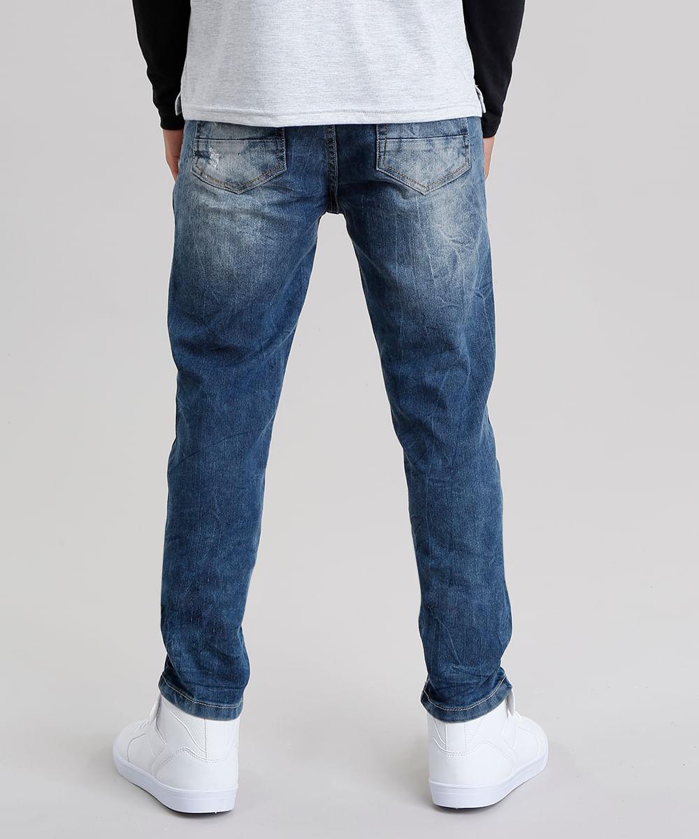 04a29946ce2 Calça Jeans Infantil Skinny Azul Escuro - cea