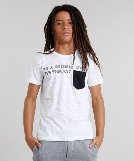Camiseta-Infantil--Be-a-Dreamer-Live--Botone-com-Bolso-Gola-Careca-Manga-Curta-Branca-9046410-Branco_1