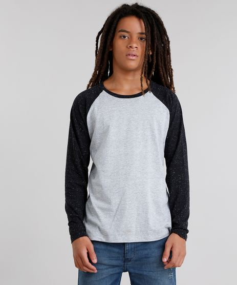Camiseta-Infantil-Gola-Careca-Manga-Longa-Raglan-Botone--Cinza-Mescla-9033834-Cinza_Mescla_1