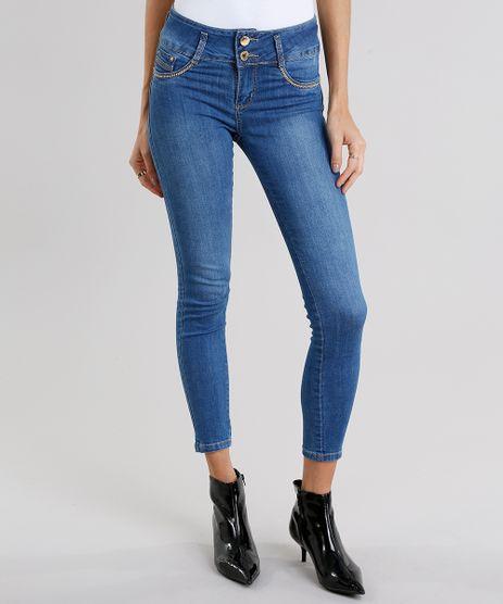 Calca-Jeans-Feminina-Super-Skinny-Modela-Bumbum-Sawary-com-Strass-Azul-Medio-9106140-Azul_Medio_1